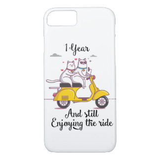 Cute one year Anniversary gift for him & her iPhone 8/7 Case
