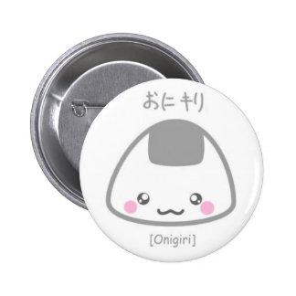 Cute Onigiri 6 Cm Round Badge