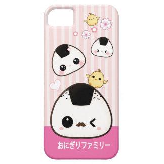 Cute onigiri family and kawaii chicks iPhone 5 cover