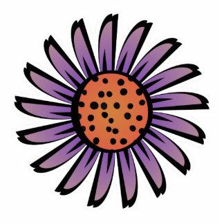Cute Orange and Purple Flower Magnet Photo Sculpture Magnet