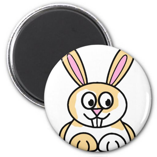 Cute Orange and White Bunny Rabbit Magnet