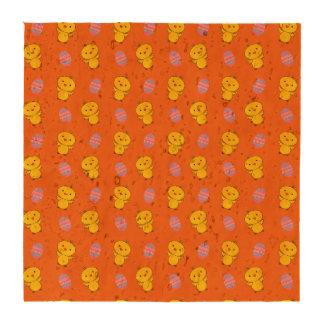 Cute orange baby chick easter pattern drink coasters