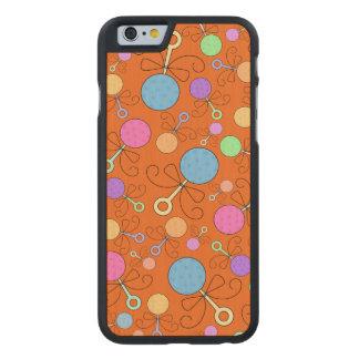 Cute orange baby rattle pattern carved® maple iPhone 6 slim case