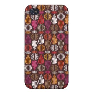 Cute orange brown retro pattern iphone case iPhone 4 cases