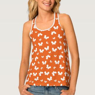 Cute orange Butterfly Pattern Tank Top