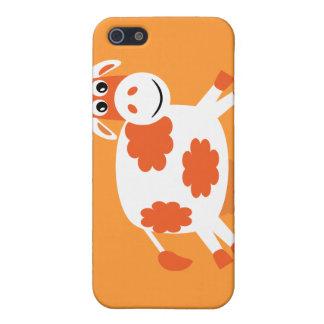Cute Orange Cartoon Cow Case For iPhone 5