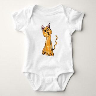 Cute Orange Cat Baby Bodysuit