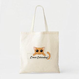 Cute Orange Cat Tote Bags