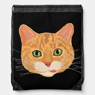Cute Orange Cat Face Backpack