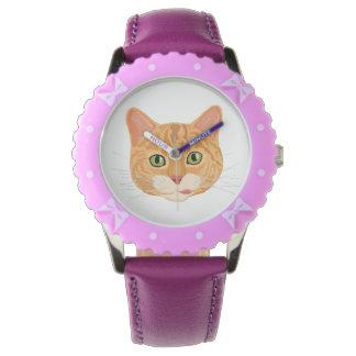 Cute Orange Cat Face Watch