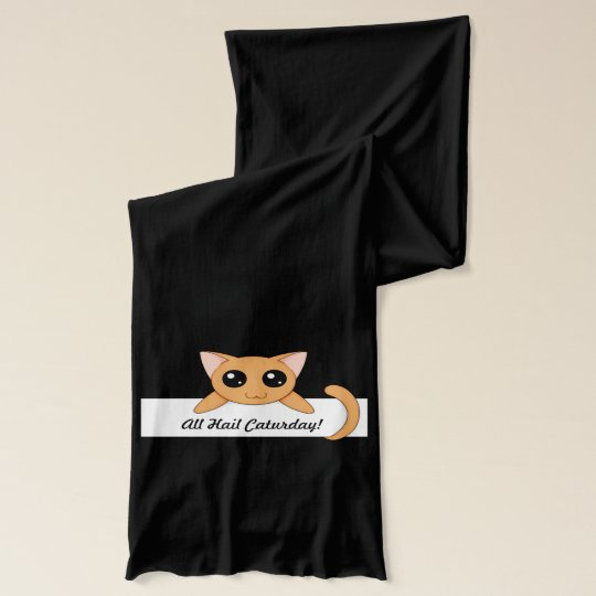 Cute Orange Cat Scarf