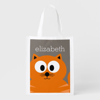 Cute Orange Fat Cat with Taupe Personalized