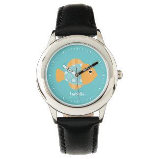 Cute Orange Fish Wrist Watches