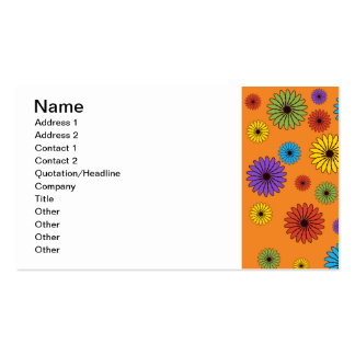 Cute Orange Floral Business Card Business Card