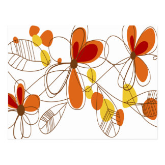 Cute Orange Flowers Postcard