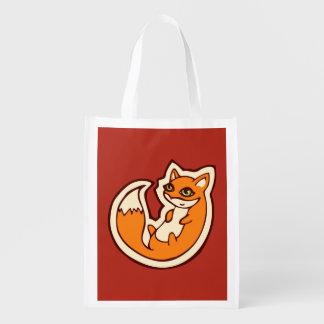 Cute Orange Fox White Belly Drawing Design