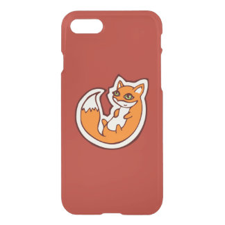 Cute Orange Fox White Belly Drawing Design iPhone 7 Case