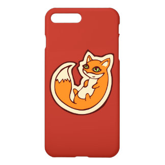 Cute Orange Fox White Belly Drawing Design iPhone 7 Plus Case