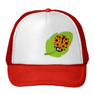 Cute Orange Ladybug Trucker Hat
