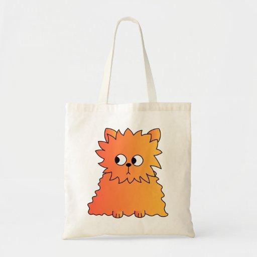 Cute Orange Long Hair Cat. Bags