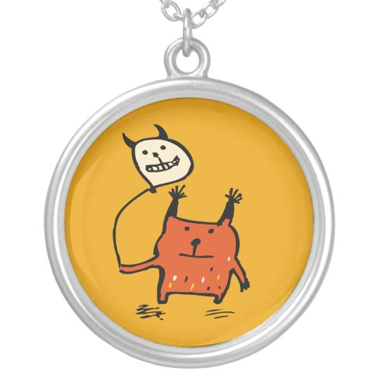 Cute Orange Monster Necklace