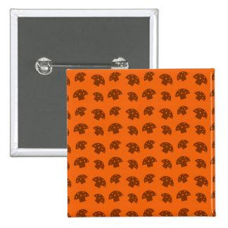 Cute orange mushroom pattern 15 cm square badge