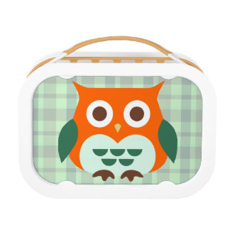Cute Orange Owl Lunch Box