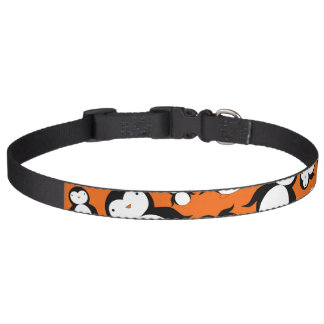 Cute orange penguin pattern pet collar