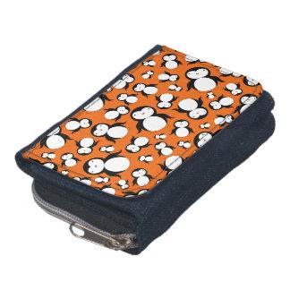 Cute orange penguin pattern wallets