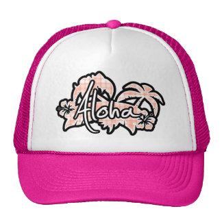 Cute Orange Plaid; Aloha Trucker Hat