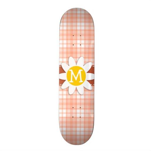 Cute Orange Plaid; Daisy Skate Deck