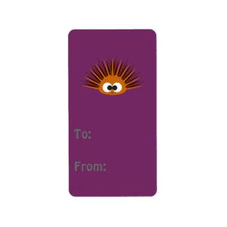 Cute Orange Spiny Sea Urchin Address Label