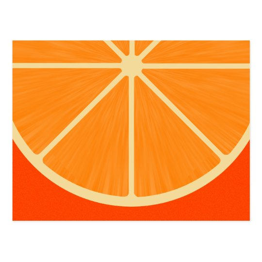 Cute Orange sSlice Postcard