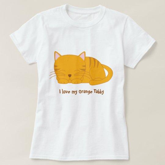Cute Orange Tabby Cat T-Shirt