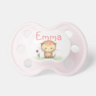 Cute Orange Tabby Kitten Custom Binky Dummy