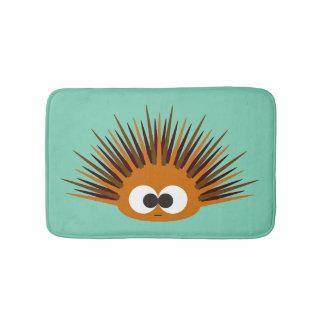 Cute Orange Urchin Bath Mat