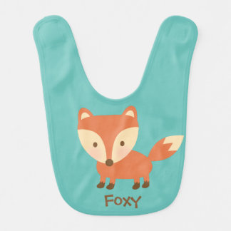 Cute Orange Woodland Fox For Babies Bib