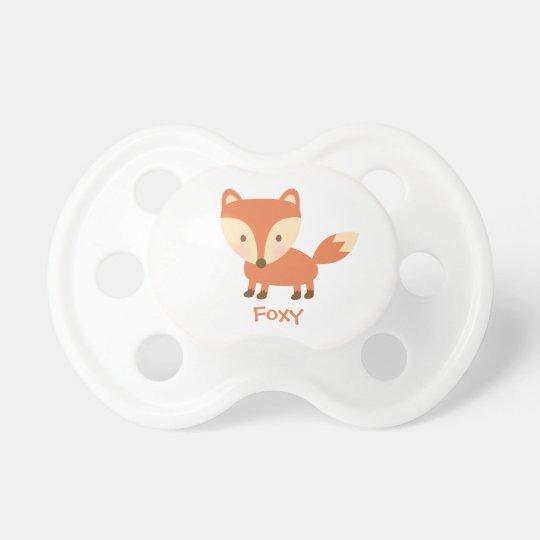 Cute Orange Woodland Fox For Babies Dummy