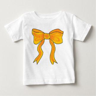 Cute Orange Yellow Bow Tee Shirts