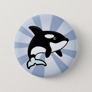 Cute Orca / Killer Whale 6 Cm Round Badge