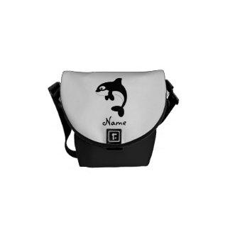 Cute orca whale messenger bag