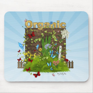 Cute Organic mousepad Think Green