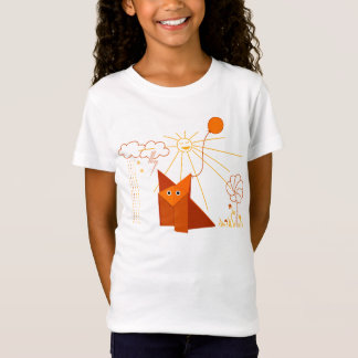 Cute Origami Fox Is Happy Light T-Shirt