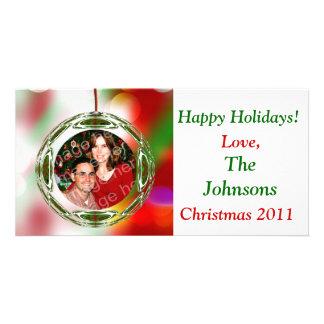 Cute Ornament Christmas Customised Photo Card