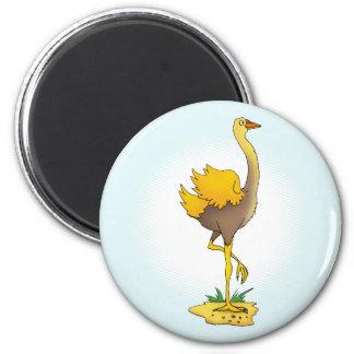 Cute ostrich refrigerator magnet