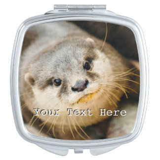 Cute Otter, Animal Portrait, Nature Photography Makeup Mirrors