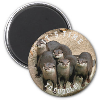Cute Otter Family | Cuddle Time Magnet