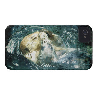 Cute Otter Wildlife Art Animal Cell Phone Case Case-Mate iPhone 4 Case