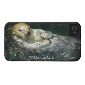 Cute Otter Wildlife Art Animal Cell Phone Case Case-Mate iPhone 4 Cases