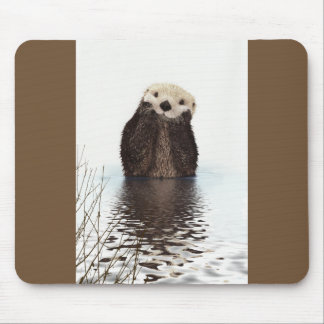 Cute Otter Wildlife Image Mouse Mat